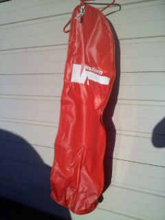 Golf Bag Travel Bag - Western Airlines - Red With Logo