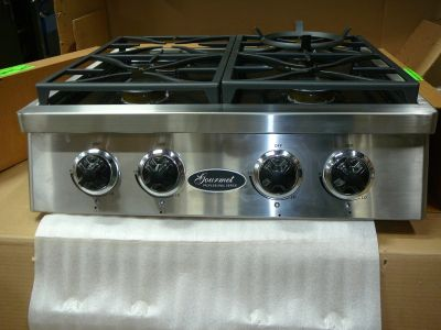 "Gourmet Stainless 30"" Professional Rangetop 4 Burner Natural Gas / LP"