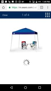 New never used 10x10 instant pop up canopy