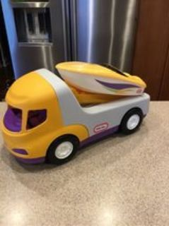 little tikes trailer & speedboat