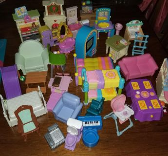 35 pcs doll house accessories