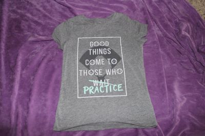 """Cat and Jack """"Good Things Come To Those Who Practice"""" Short Sleeve Shirt Size 7/8"""