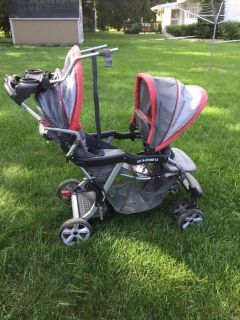 Baby trend sit to stand double stroller