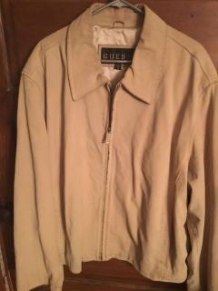 GUESS: Beautiful Men s Suede Leather Jacket With Satin Lining Size XL $40 Must Pick Up In McDonough