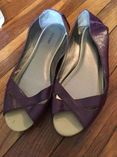Old navy purple flats size 8