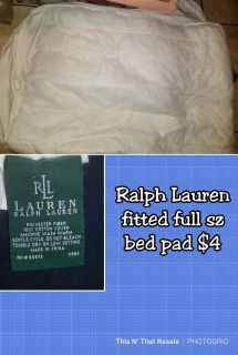 Ralph Lauren fitted full sz bed pad