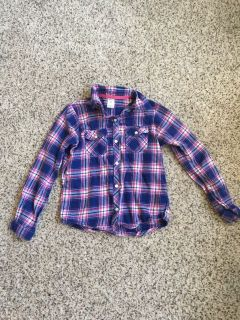 Carter s girls size 7 flannel with silver sparkle thread