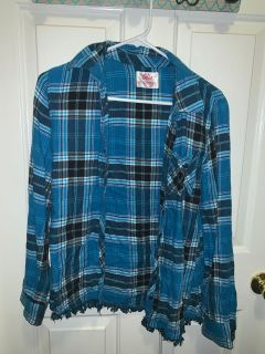 Justice Girls Plaid Shirt