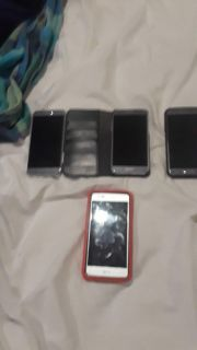 3 Samsung galaxy 2 with classes LG aristo with case
