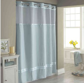 Brand new Hookless Shower Curtain w/ snap in liner