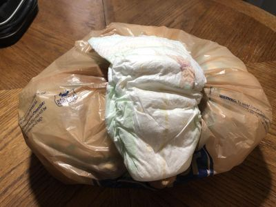 Bag of sz 4 diapers free to a mom/dad in need