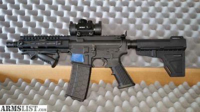 For Sale: !!!AR-15 223/556 Aero Precision pistol with CNC 3.5lb trgger!!!