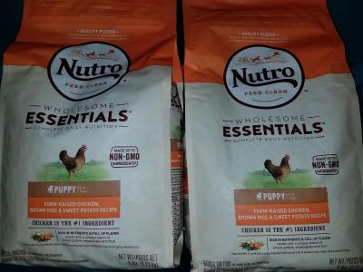 2 - 5 lb bags of Nutro wholesome Essentials puppy food