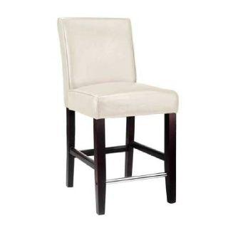 Bar Stool- White Upholstery