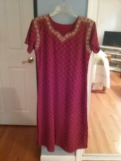 India pants suit with shawl.