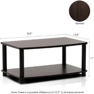 Furinno 2-Tier Elevated TV Stand (Black) - NEW!