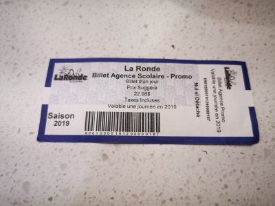 Laronde Ticket