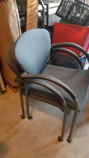 Stacking rolling chairs $5 each