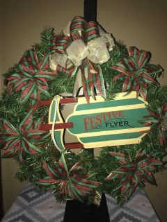 "Radio ""Festive"" Flyer Wreath"