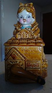 Vintage Alice in Wonderland cookie jar