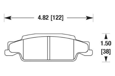 Buy HAWK HB440Z.606 - 2003 Cadillac CTS Rear Brake Pads Ceramic motorcycle in Chino, California, US, for US $82.56