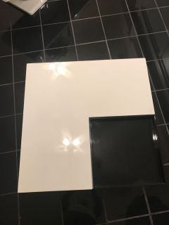 White and black coffee table