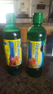 Miracle Grow LiquaFeed 2 bottles