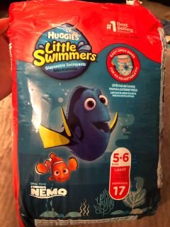 LITERALLY ONLY USED ONE! Buggies sz large swim diapers...Whole brand new pack...16 left!
