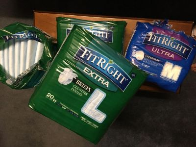 Lot of adult sized disposable briefs FREE