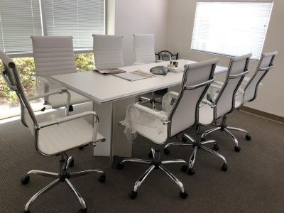 Modern Conference Table and Chairs