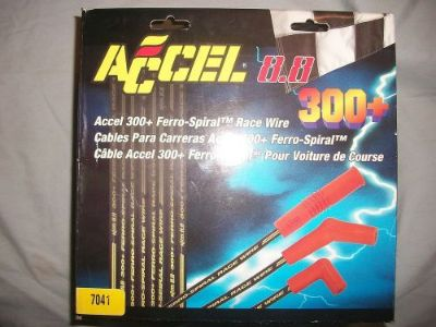 Sell ACCEL 8.8 300+ FERRO-SPIRAL UNIVERSAL SPARK PLUG RACE WIRE SET CUSTOM FIT #7041 motorcycle in Jefferson, Ohio, United States, for US $49.00