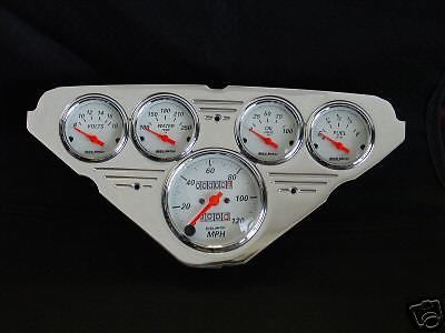 Purchase 55-59 Chevy Truck Dash Insert w/ 1300 Auto Meter Gauges motorcycle in Lake Elsinore, California, United States, for US $425.00
