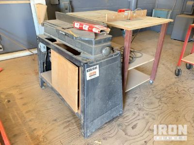 Lot of (1) Router Table w/ Router, (1) Wood Planer & (1) Dust Collection System