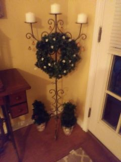 """4ft candle holder 16"""" tree's"""