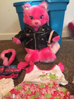 Build a Bear Cat with clothing