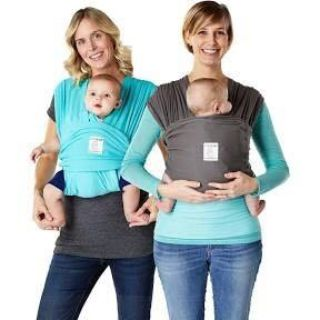 Scroll to see photos of MY product, used stocked photo to show what it is, size Medium, Baby K Tan Breeze carrier, gray, in GUC, $5.00