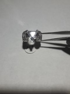 Size 7 3.97ct Sterling Silver Ring