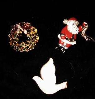 Designer high quality vintage Christmas Pins/Broaches