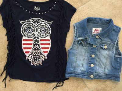 Girls Shirt and Jean Jacket - Both from Justice - Size 8