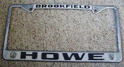 [WTB] Howe dealer plate frame Brookfield WI