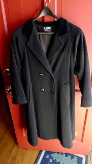 BLACK LADIES BLACK KAREN PETITS DOUBLE BREASTED DRESS COAT SIZE 10
