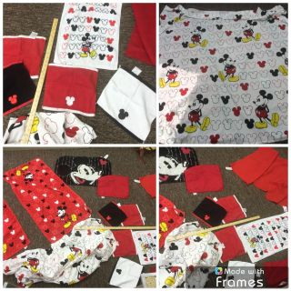 Disney Mickey Mouse Red, Black and White Bathroom set, shower curtain, rug, towels, wash cloths. $15.00