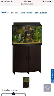 Looking for 25-55 gallon aquarium with stand