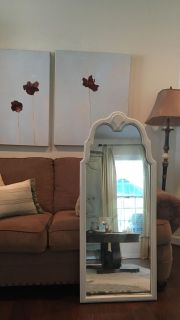 Creamy white ornate dress up mirror- perfect for your princess