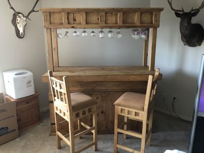 Rustic Bar and Ice Maker