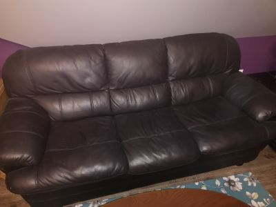FREE fake leather couch and chair!