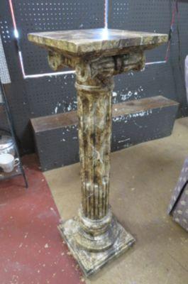 Vintage Antique style Italian faux marble pedestal