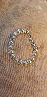 Heart Bracelet, sterling silver, great condition, no broken areas and clasps open and closes perfectly