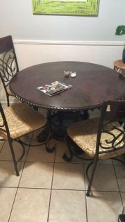 Wooden Round Table - 48 inches