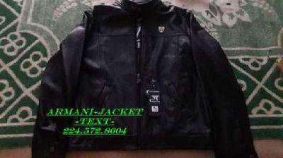 Brand New Armani leather Jacket Mens ( XXL) US(XL)